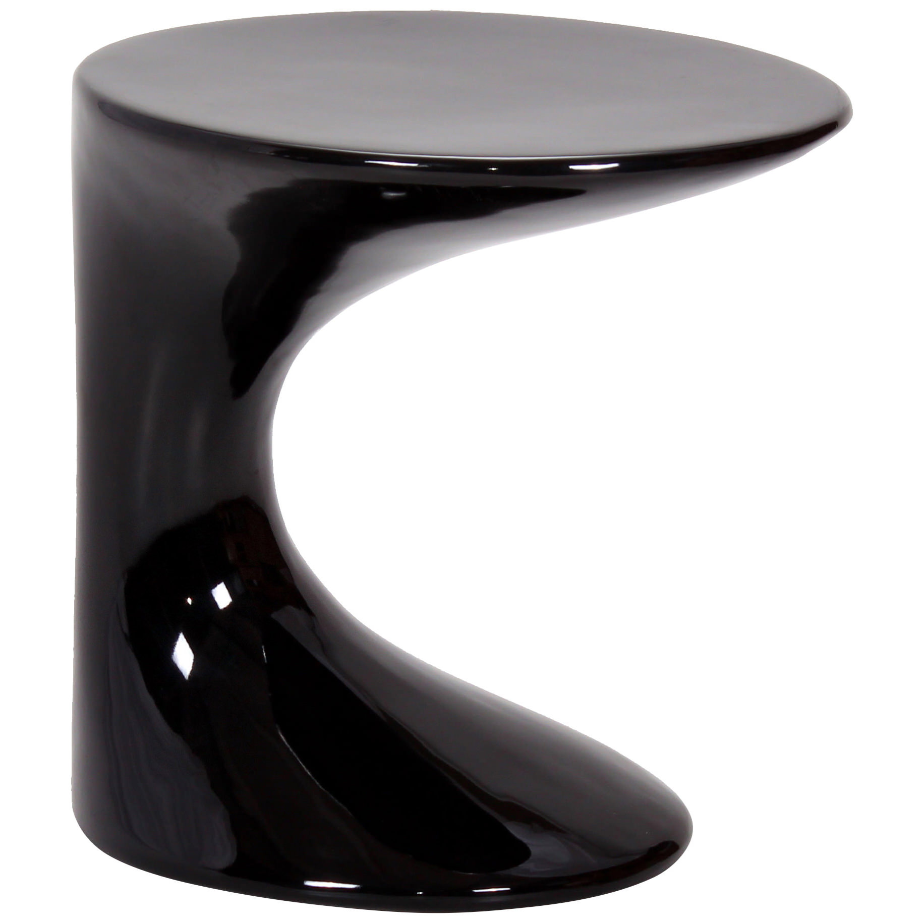 Wilcox Lamp High Gloss Table in Black