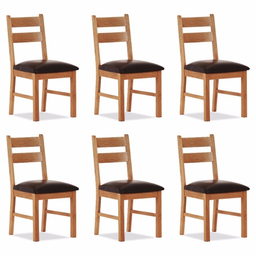 100% Oak Orland Low Dining Chair (Set of 6