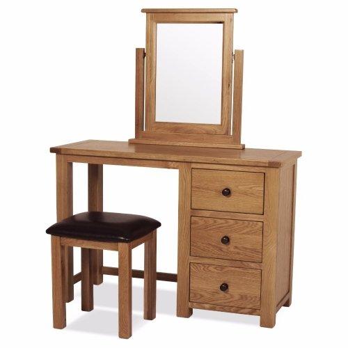 100% Oak Allendale Dressing Table Set