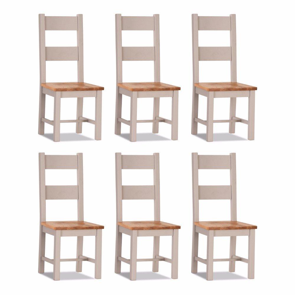 100% Oak Vinton Dining Chair Wooden seat (set of 6