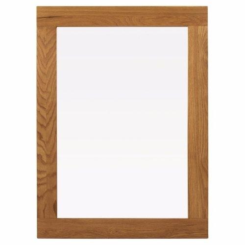 Allendale Chunky Oak Frame Wall Mirror   Oak Furniture Online