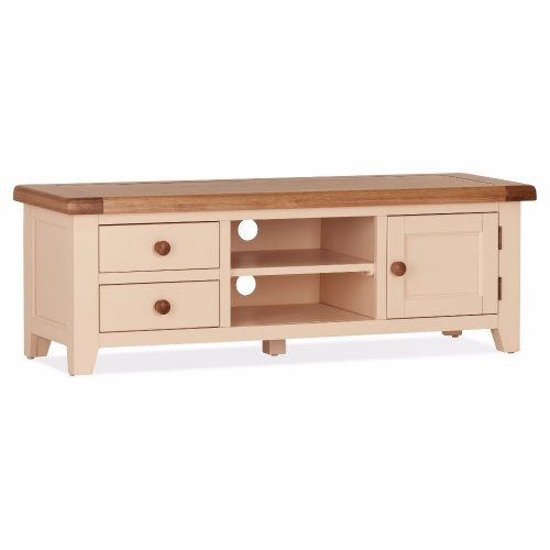 Cheap Oak Jenison Large TV Unit | Oak Furniture Online