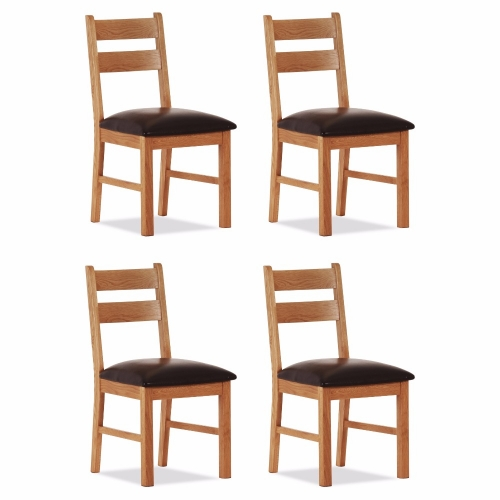 100% Oak Orland Low Dining Chair (Set of 4